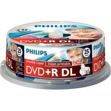 1x25 Philips DVD+R 8,5GB DL 8x IW SP