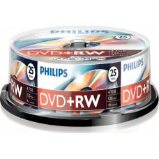 1x25 Philips DVD+RW 4,7GB 4x SP