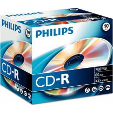 1x10 Philips CD-R 80Min 700MB 52x JC