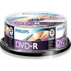 1x25 Philips DVD-R 4,7GB 16x SP