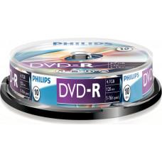 1x10 Philips DVD-R 4,7GB 16x SP