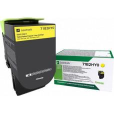 Lexmark Yellow Toner High Capacity Return (71B2HY0)