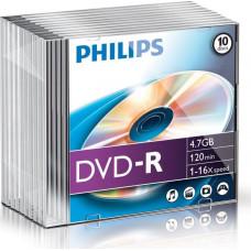1x10 Philips DVD-R 4,7GB 16x SL