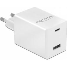 DeLock USB & USB-C Wall Adapter Λευκό (41448)