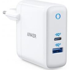 Anker USB / USB-C Wall Adapter 60W Λευκό (PowerPort Atom III)