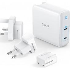 Anker 2x USB-C Wall Adapter Λευκό (Powerport III 2Port Universal)