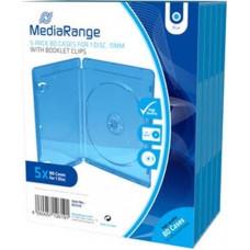 MediaRange Θήκες CD 5 Τμχ Μπλε BOX38