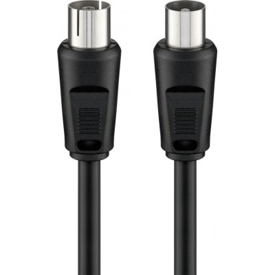 Goobay Antenna Cable Coax male - Coax female Μαύρο 5m (11723)