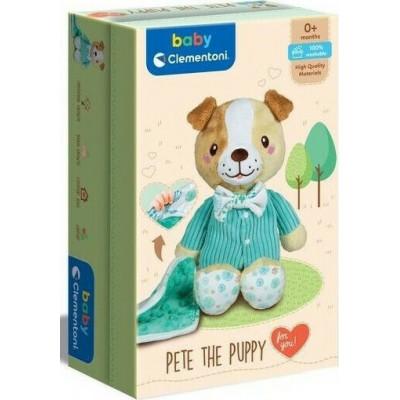 Baby Clementoni: Βρεφικο Χνουδωτο Γλυκο Σκυλακι Σε Κουτι Δωρου (1000-17417)