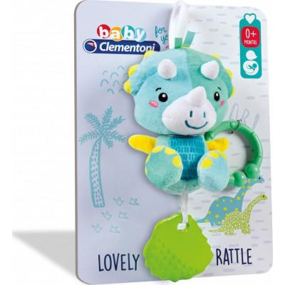 Baby Clementoni: Βρεφικο Παιχνιδι Κουδουνίστρα Δεινοσαυράκι 2 σε 1 (1000-17353)