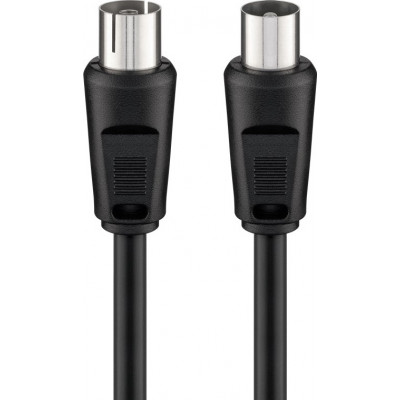 Goobay Antenna Cable Coax male - Coax female Μαύρο 2.5m (11722)