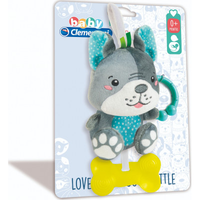 AS Baby Clementoni: Lovely Dog Soft Rattle (1000-17354)